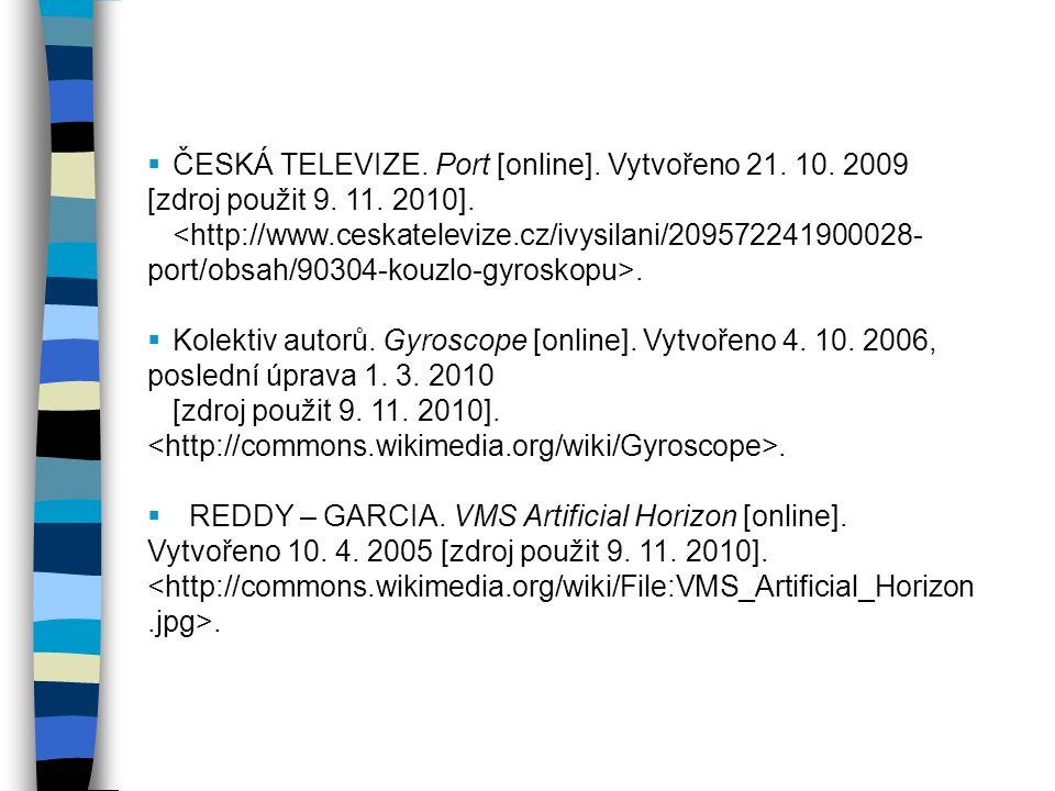 ČESKÁ TELEVIZE. Port [online]. Vytvořeno 21. 10. 2009 [zdroj použit 9